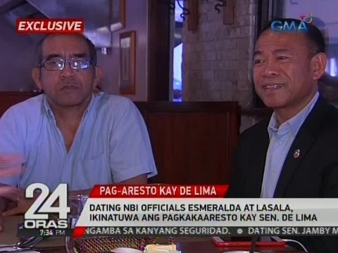 24 Oras: Dating NBI officials Esmeralda at Lasala, ikinatuwa ang pagkakaaresto kay Sen. De Lima