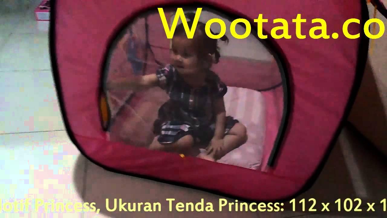 Tenda Anak Murah Berbentuk Rumah Motif Princess Hellokitty Sedang
