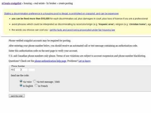 Craigslist erotic services verification code