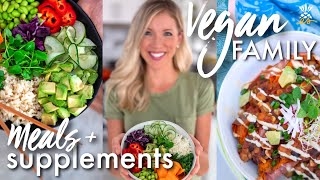 What We Ate Today + Supplements We Take | Vegan Family