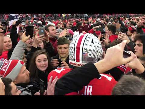 Scenes from the field after Ohio State's 62-39 win over Michigan