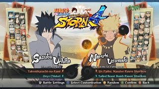 Naruto Shippuden Ultimate Ninja Storm 4 All Characters, Costumes, Forms, Jutsu, Stages