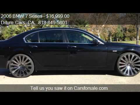 2006 Bmw 750i >> 2006 BMW 7 Series 750Li - for sale in VAN NUYS, CA 91406 - YouTube