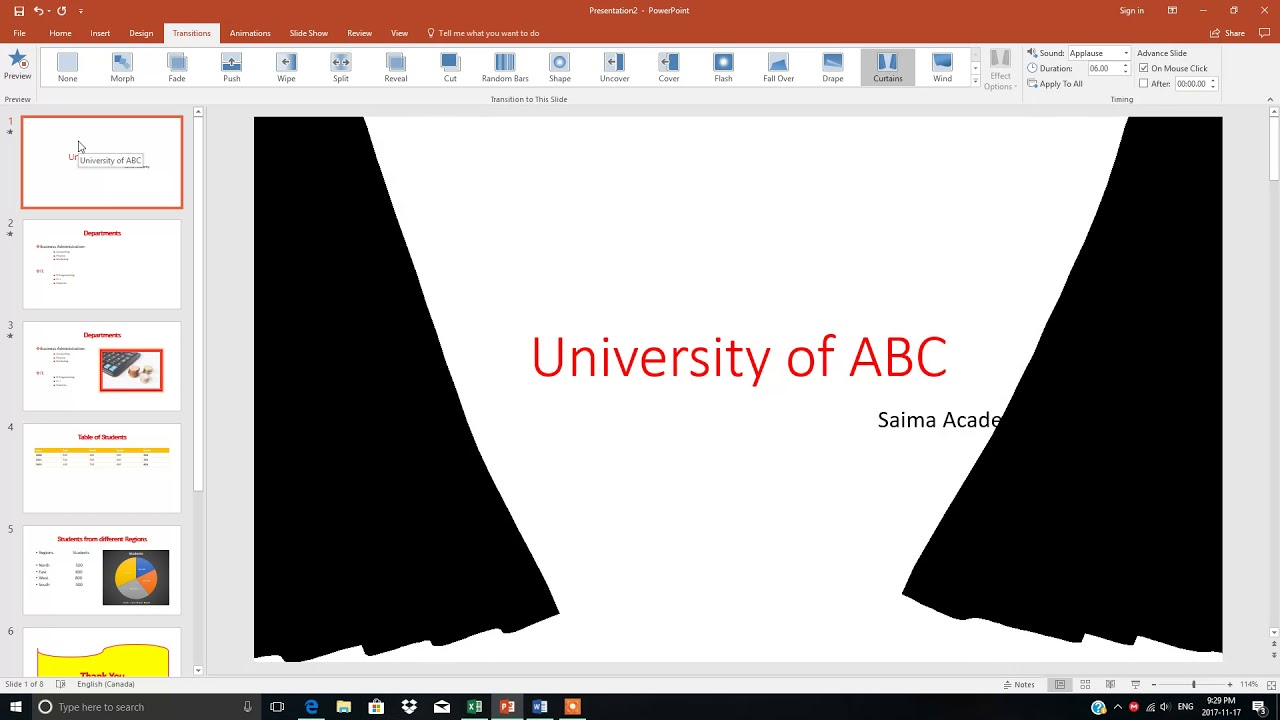 Difference between transition and animation in powerpoint best powerpoint 2016 tutorial adding slide transition animation difference between toneelgroepblik Image collections