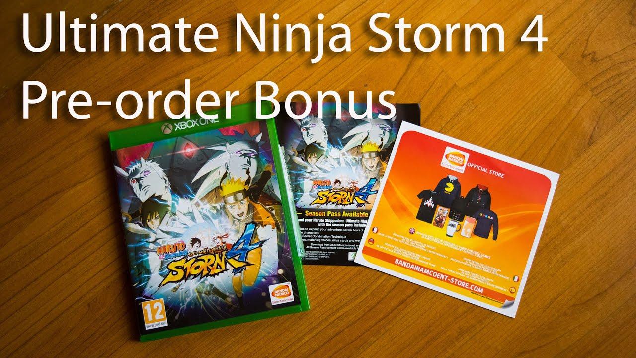 Naruto Ultimate Ninja Storm 4 Unboxing | Exclusive Pre-order Bonus (See it  First)
