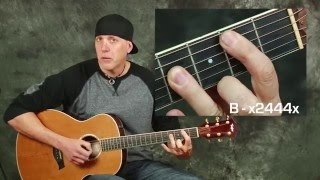 Acoustic guitar song lesson learn Eagles New Kid In Town with chords strum patterns rhythms complete