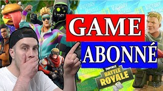 🔴FORTNITE - *MISE A JOUR JEUDI*  *GAME ABO* ! GO TOP 1 😁 !!!