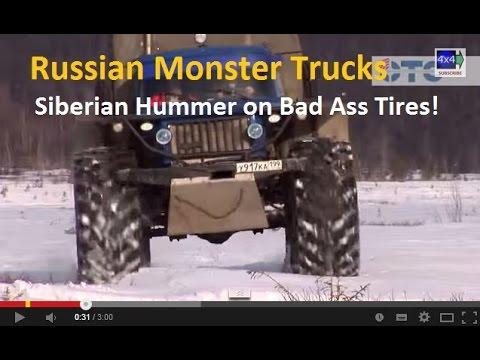Russian Monster Trucks Siberian Hummers On Bad Ass Tires