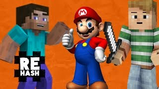 Video Remix, Mario 64 glitch bounty, and Minecraft goes cross platform?! #Rehash