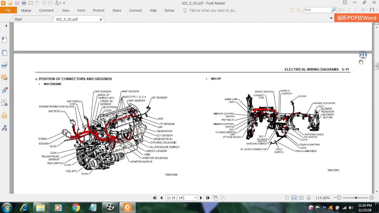 Chevrolet Gentra T250 Wiring Diagram