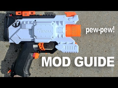[NERF MOD] NERF RIVAL HERA MOD GUIDE! FIRST NERF RIVAL HERA PISTOL IN THE WORLD! NEW NERF GUNS 2017