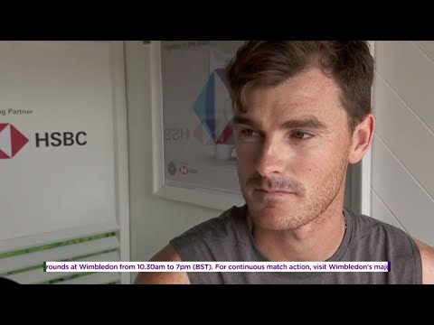 Jamie Murray chats to the Wimbledon Channel at the HSBC Fan Zone