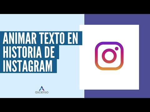 ¿Cómo animar un texto en una historia de Instagram?