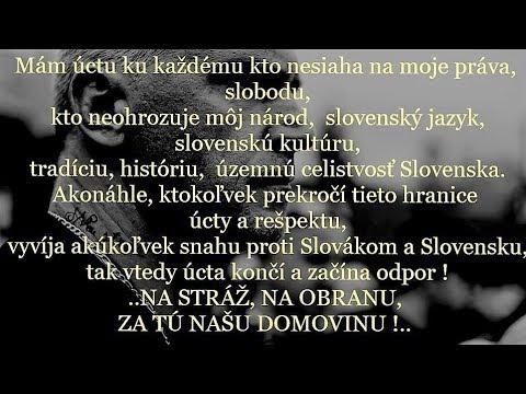 VEREJNÉ ŠÍRENIE NENÁVISTI PROTI SLOVENSKU, SLOVENSKEJ IDENTITE.