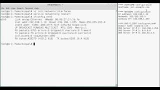How to set static ip in debian using console commands