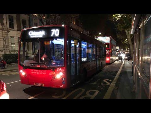 4K*Rare* London Bus Route 70 (Westbourne Grove to South Kensington) London United DE20100 Enviro 200