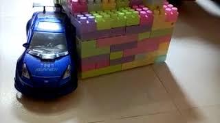 car crash, race, lego, kids play