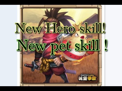 Castle Clash New Hero Skill And New Pet Skill_Translate_ Another Insane Hero!!