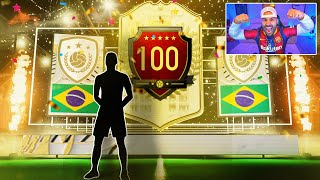 OMG!! I PACKED A ICON!! INSANE TOP 100 REWARDS! FIFA 21