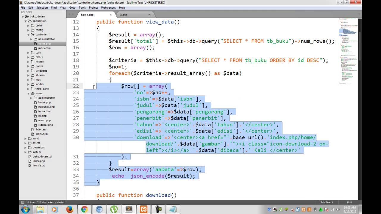 how to create datatable ajax codeigniter
