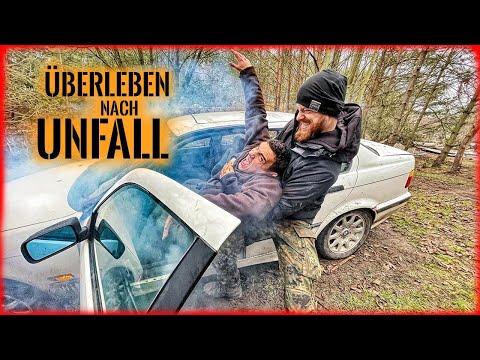 24h ÜBERLEBEN nach AUTOUNFALL mit Fritz Meinecke | Survival Mattin