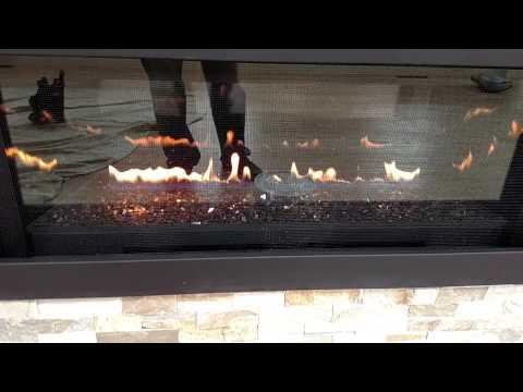 Fireplace napoleon installed panels reflectors