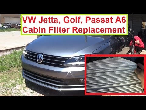 Vw Jetta A6 Cabin Air Filter Removal and Replacement 2011, 2012, 2013, 2014, 2015, 2016