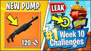 'NEW' LEGENDARY PUMP ' FORTNITE SEASON 6 SEMAINE 10 CHALLENGES LEAKED (Durr Burger Ads - Emplacements)