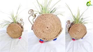 creative  planter/jute rope crafts/planter idea/ORGANIC GARDEN