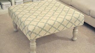 Handsome Fabric Ottoman Coffee Table Design Ideas