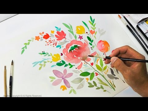 Diy greeting card watercolor painting level 3 youtube m4hsunfo