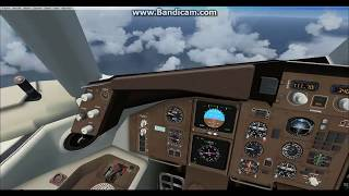 FSX hop flight from Spain to italy speedbird 15 time lapse