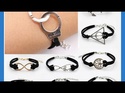 Buy Designer Fashion Jewellery Leather Charm Bracelets Online
