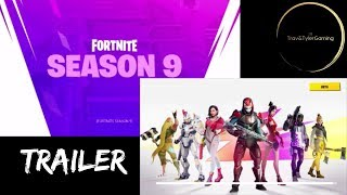 FORTNITE SEASON 9 TRAILER et BATTLE PASS PEEK!! (travandtylergaming)
