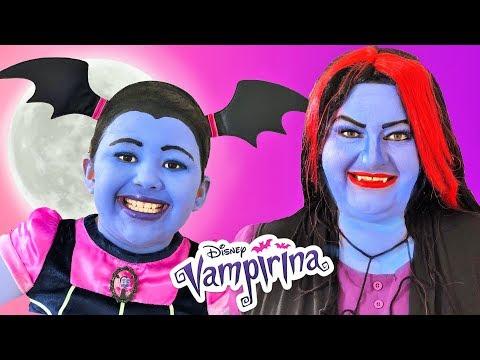 Disney Junior Vampirina and Oxana | Makeup Halloween Costumes and Toys