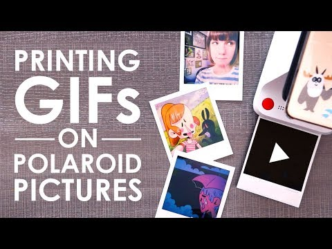 PRINT ANIMATED GIFs On POLAROIDS - Testing The Polaroid Lab
