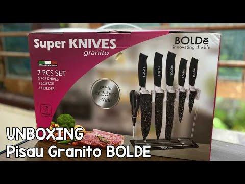 Unboxing Pisau Set Super Knives Granito BOLDE - YouTube