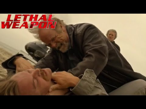 LETHAL WEAPON TV SHOW 2x22 RIGGS GETS REVENGE ON HIS FATHER NATHAN RIGGS HD