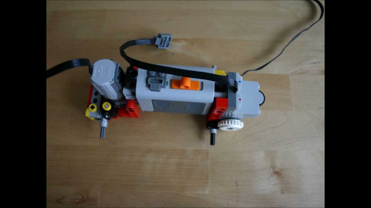 Simple lego rc car building instructions included youtube for Stepper motor rc car
