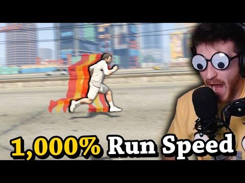 How Fast Can You RUN Across GTA 5? (1000% Run Speed)