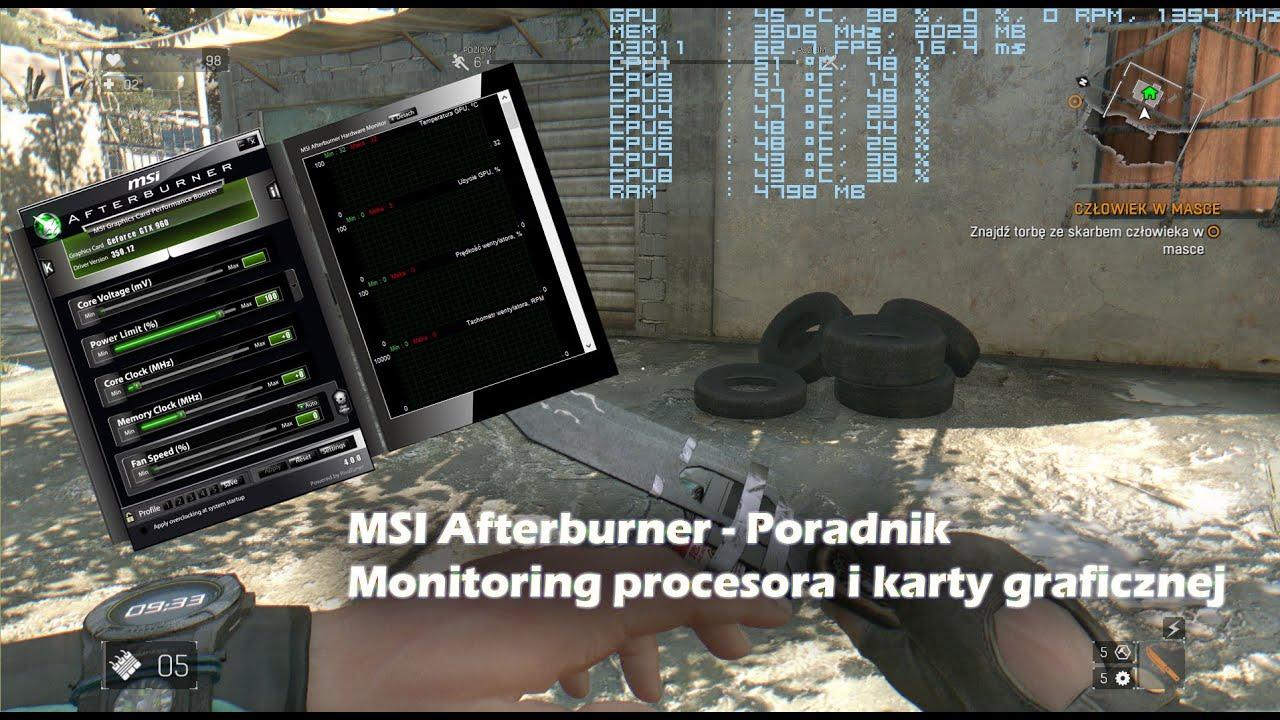 MSI Afterburner, czyli jak włączyć monitoring podzespołów komputerowych    Poradnik - YoutubeDownload pro