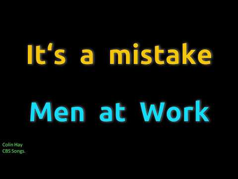 It's A Mistake - Men At Work (HD, 320kbps)