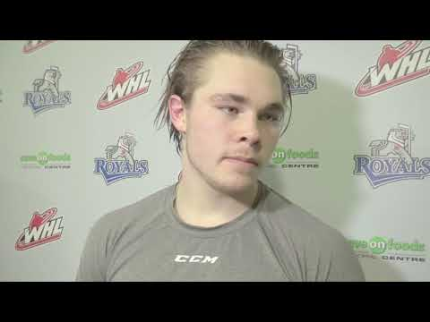 Dan Price, Tanner Kaspick and Noah Gregor post game interview Victoria Royals 4 Kelowna Rockets 3