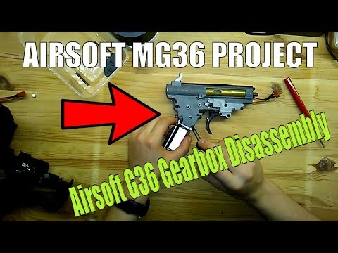 Airsoft Classic Army G36 Gearbox Removal And Disassembly (Airsoft MG36 Project)
