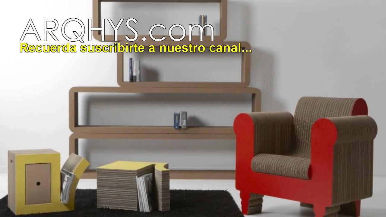 Muebles de carton Reciclados, ecologicos y funcionales  YouTube