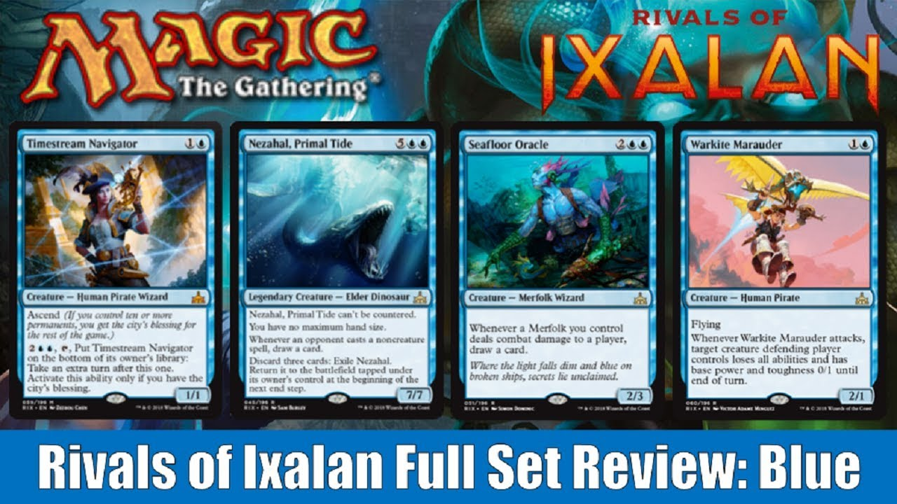 mtg rivals of ixalan full set review blue youtube