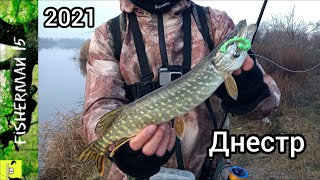 Ловля хищника на реке Днестр Маяки Щука Окунь Судак Встретили браконьеров