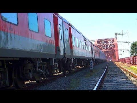 Dhaka to Kolkata (Bangladesh to India) Maitree Express Train passing 102 years old Rail Bridge thumbnail