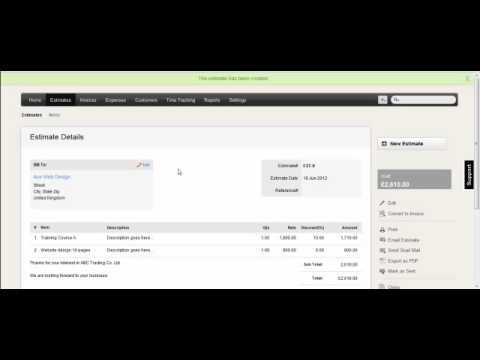 Zoho Invoice Creating Quotations YouTube - Zoho free invoice for service business