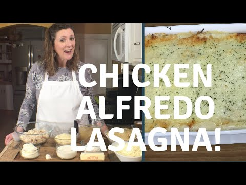 Chicken Alfredo Lasagna! Step By Step With Chef Kristi!